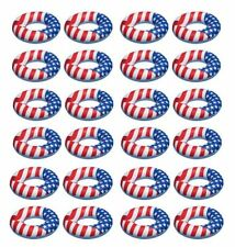 "Swimline 36"" Inflatable American Flag Swimming Pool & Lake Tube Float (24 Pack)"