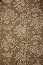 Antique French Art Nouveau woven damask fabric panel upholstery curtains old