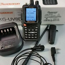 WOUXUN KG-UV 8D PLUS lion 2600m+ear/mic VHF/UHF full duplex+cr.ba rpt 23075