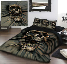 SKULL RIP-THRU - Duvet Cover Set for KINGSIZE BED artwork by David Penfound