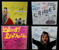 THE BLOOD BROTHERS BAND SIGNED 12x12 ALBUM FLAT BURN PIANO CRIME BLILIE VOTOLATO