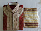 Burgundy wedding party Exclusive Designer sherwani kurta salwar kameez 3 pcs