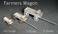 FARMER'S WAGON O On30 Scale Model Railroad Structure Unptd Wood Laser Kit GMFWO
