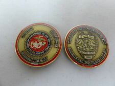 CHALLENGE COIN USMC UNITED STATES MARINE CORPS BASE MILITARY POLICE HAWAII