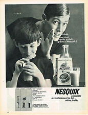 PUBLICITE ADVERTISING  1963   NESQUICK  boisson chocolatée