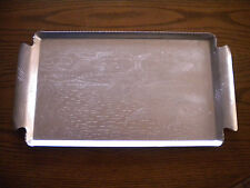 Vintage Aluminum Flying Geese Serving Tray / Platter, 16 1/2 in. x 8 3/4 in.
