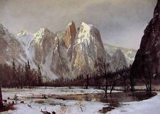 Huge Oil painting nice landscape Cathedral Rock Yosemite Valley California 36""