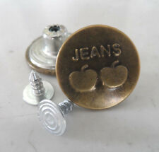 17 mm Apple Jeans Metal Copper-colored NO-SEW Jean Tack Buttons x 20