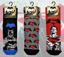 3 pairs MENS DC COMICS OFFICIAL BATMAN VS SUPERMAN EVERYDAY SOCKS SIZE 6-11.