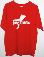 Foo Fighters t-shirt M red lightning bolt logo tee rock Dave Grohl distressed