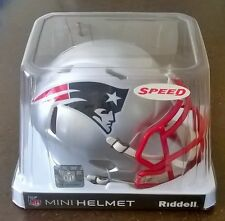 NEW England Patriots NFL Football Americano CASCO RIDDELL MINI velocità