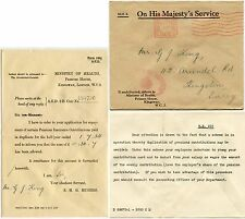 GB OFFICIAL PAID MACHINE 1934 MINISTRY of HEALTH CROWNED OVAL + LETTER to G.KING