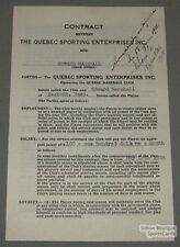 1938 Quebec Baseball Contract Signed by Edward Marshall