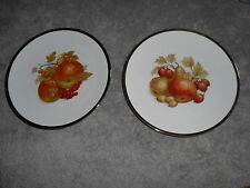 BAREUTHER  WALDSASSEN BAVARIA GERMANY  FRUIT DECORATED PLATE  WITH GOLD TRIM
