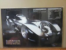 Vintage 1989 DC Comics Batman The batmobile poster 5217