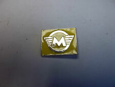 "Badge PIN MOTO ""MATCHLESS jaune"" badge revers moto-BG15"
