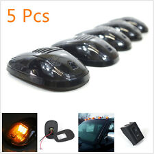 5 X Amber LED Smoked Lens Car Offroad Roof Top Marker Running Clearance Lamp 12V