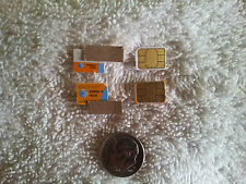 LOT of THREE AT&T NANO SIM CARDS TESTING/BYPASS/NO SERVICE READ ALL INFO BELOW!