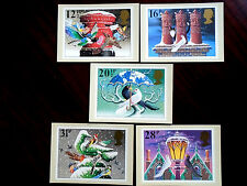 GB 1983 CHRISTMAS Issue PHQ CARDS SET No.71 5 values to 31p MNH