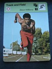 1977-1979 Sportscaster Card Track and Field Steve Williams 03-23