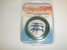 Rig Marole Freefall Micro Braided Tubing 1m 3pk Green / Black Carp fishing