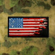 ZHT GEAR: AMERICAN ZOMBIE HANDS DISTRESSED FLAG PATCH ~ THE WALKING DEAD ~HUNTER