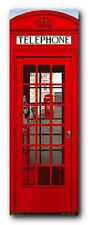 Red London Telephone Booth Door Poster Art Print 62X21 (157.5X53cm)