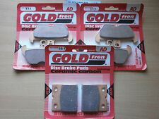 BMW K 100 RS (16v) K100RS   FULL SET FRONT & REAR BRAKE PADS (3x Sets) SINTERED