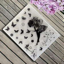 Butterfly Angel Girl Clear Silicone Stamp Seal for DIY Scrapbooking Album Decor