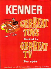 1966 ADVERT 8 PG Kenner Toy Toys Flexies Walt Disney Mickey Mouse Building Flint