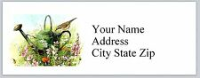 30 Personalized Address Labels Watering Can Buy 3 get 1 free (ac506)