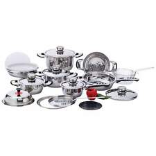 Chef's Secret 22pc 12-Element, High-Quality, Heavy-Duty Stainless Steel Cookware