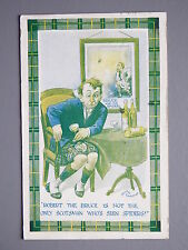 R&L Postcard: Comic, Archie Cameron, Robert the Bruce, Wine/Whisky Drinking Man