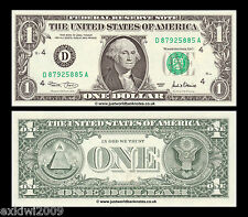 United States USA 1 Dollar 2001 Series D (Cleveland) P-509 Mint UNC Banknotes