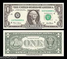 Stati UNITI USA 1 DOLLARO 2001 SERIE D (Cleveland) p-509 Nuovo di zecca UNC banconote