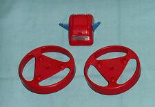 vintage Mego Micronauts MICROTRON PARTS LOT #21 large wheels & robot head