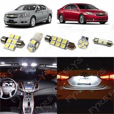 7x White LED lights interior package kit for 2013 and up Chevrolet Malibu CM1W