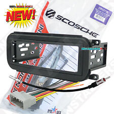 Radio Mounting Dash Kit with Wiring for Jeep Aftermarket Car Stereo Installation