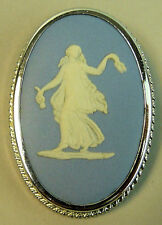 Un hermoso azul Wedgwood Jasper Ware Colgante/broche