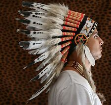 INDIAN HEADDRESS Chief War bonnet Costume Native American Halloween Headdresses