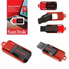 SanDisk 32GB Cruzer Switch USB 2.0 Flash Pen Drive Memory Stick Smart Thumb Key