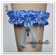 Hochzeit Strumpfband Strumpfband Braut Personalisiert ( Versand DPD ! )