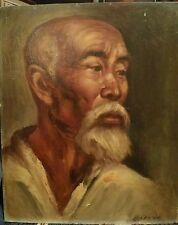 Gorgeous Oil Painting of Chinese Elder - Old Asian Man - Unframed