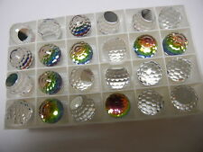 6 swarovski crystal 3/4 flatback disco balls,16mm vitrail medium Z #4869