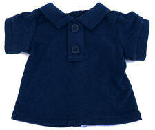 """Navy Polo T-Shirt made for 18"""" American Girl Doll Clothes School Uniform"""