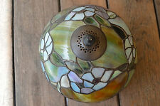 Tiffany Style Leaded Stained Glass Lamp Shade Only Floral Design
