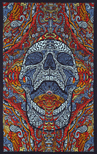 3D TAPESTRY-MINDFUL SKULL-SCREAMING-Psychedelic-FREE GLASSES 60X90 -Dead,Phish