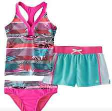 GIRLS PLUS TANKINI TOP & BOTTOMS WITH MATCHING SHORTS SIZE 18 1/2 18.5 NEW NWT