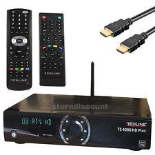 Redline 4000 TS Plus HDTV satellite Receiver IPTV CA Card reader USB WLAN LAN