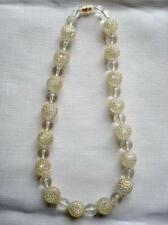 Vintage Necklace With Clear Lucite and Plastic Bubble Beads